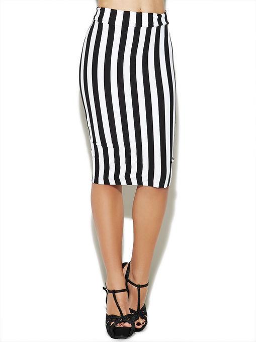 Как сшить юбку в широкую полоску 14