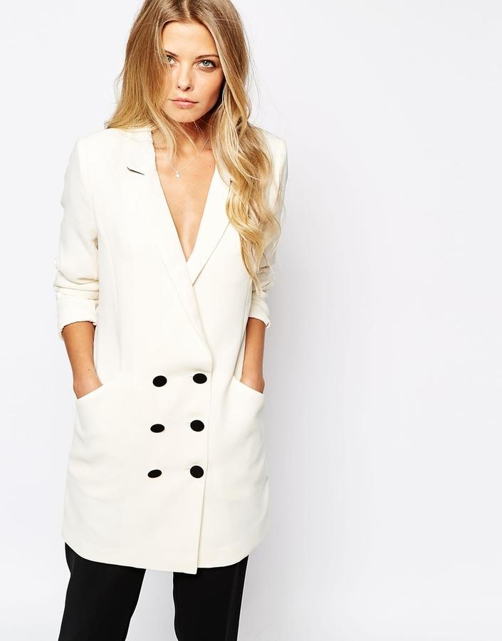 Двубортный женский пиджак с чем носить