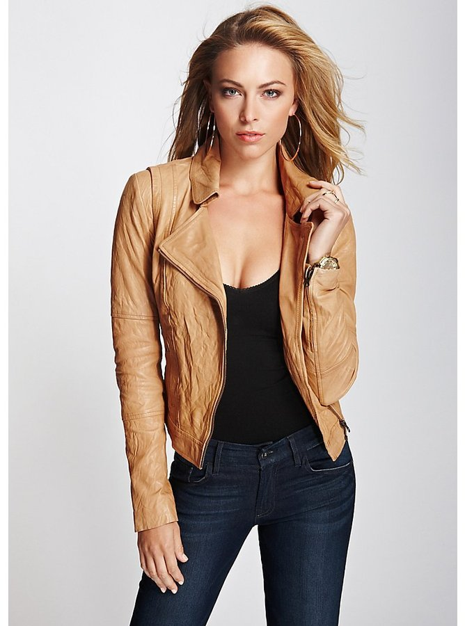 Светлые кожаные куртки женские