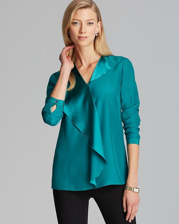 Рубашка бирюзовая женская