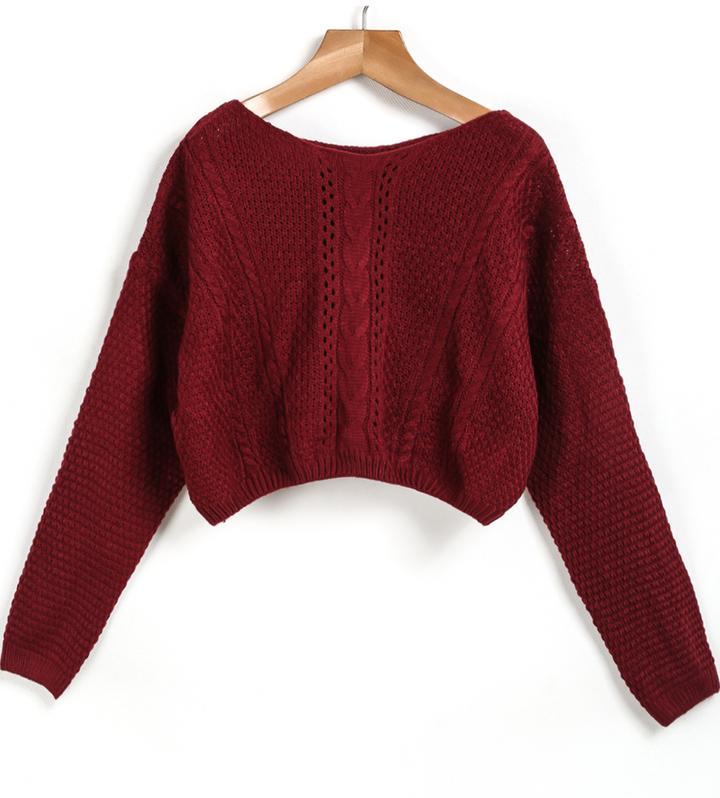Вязание кроп свитера 96
