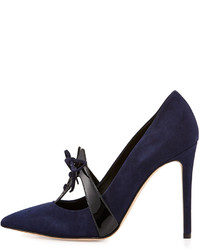 Туфли замшевые синие