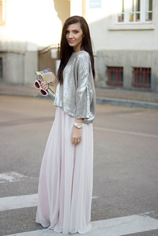 Длинное белое платье с чем носить