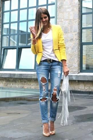 Что носить с желтым