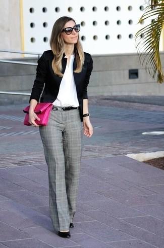 Как и с чем носить брюки серого цвета