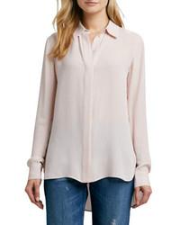 Бежевая блуза на пуговицах