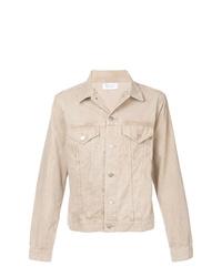 Бежевая вельветовая куртка-рубашка