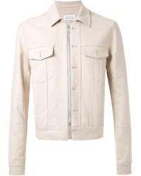 Бежевая джинсовая куртка
