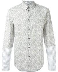 Мужская бежевая классическая рубашка с принтом от Carven