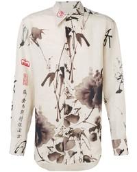 Мужская бежевая классическая рубашка с принтом от Vivienne Westwood