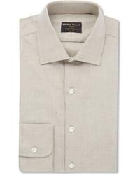 Мужская бежевая классическая рубашка