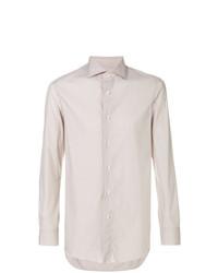 Мужская бежевая классическая рубашка от Boglioli
