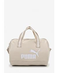 Женская бежевая кожаная спортивная сумка от Puma