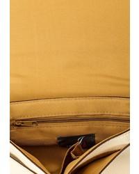 Бежевая кожаная сумка через плечо от Jane Shilton