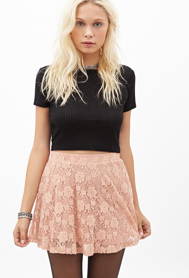 Кружевная короткая юбка купить