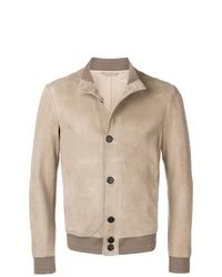 Мужская бежевая куртка-рубашка от Giorgio Armani