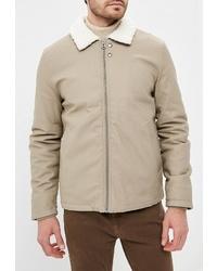 Мужская бежевая куртка-рубашка от Topman