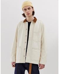 Мужская бежевая куртка-рубашка от Weekday