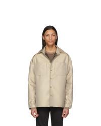 Бежевая куртка харрингтон от Fendi
