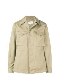 Мужская бежевая легкая куртка-рубашка от Maison Margiela