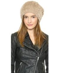 Женская бежевая меховая шапка от Adrienne Landau