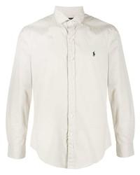 Мужская бежевая рубашка с длинным рукавом от Polo Ralph Lauren
