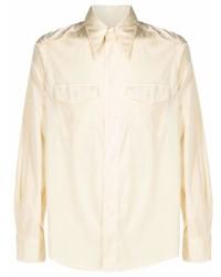 Мужская бежевая рубашка с длинным рукавом от Sunflower
