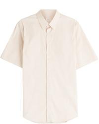 бежевая рубашка с коротким рукавом original 1722813