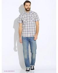 Мужская бежевая рубашка с коротким рукавом от Levi's