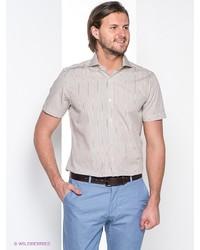 Мужская бежевая рубашка с коротким рукавом от MONDIGO