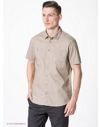 Мужская бежевая рубашка с коротким рукавом от Sela