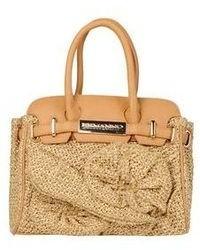Бежевая соломенная сумочка