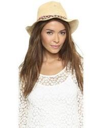 Женская бежевая соломенная шляпа