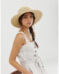Женская бежевая соломенная шляпа от ASOS DESIGN