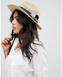 Женская бежевая соломенная шляпа от Asos