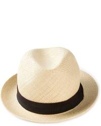 Мужская бежевая соломенная шляпа от Lanvin