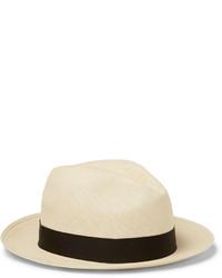 Мужская бежевая соломенная шляпа от Lock & Co Hatters