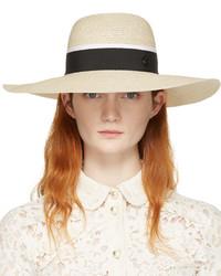 Женская бежевая соломенная шляпа от Maison Michel