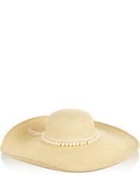 Женская бежевая соломенная шляпа от Sensi