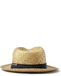 Мужская бежевая соломенная шляпа от Paul Smith