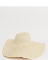 Женская бежевая соломенная шляпа от South Beach