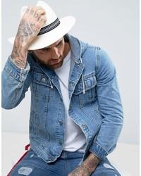 Мужская бежевая соломенная шляпа от Asos