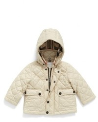 Бежевая стеганая куртка