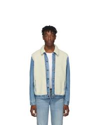 Бежевая флисовая куртка-рубашка
