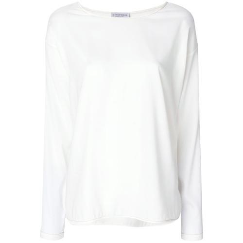 Женская бежевая футболка с длинным рукавом от Le Tricot Perugia