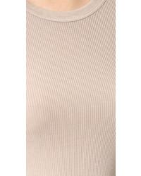 Женская бежевая футболка с длинным рукавом от Enza Costa