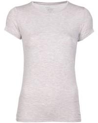 Бежевая футболка с круглым вырезом