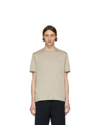 Мужская бежевая футболка с круглым вырезом от Brioni