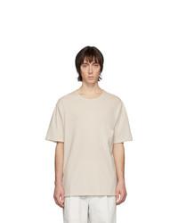 Мужская бежевая футболка с круглым вырезом от Lemaire
