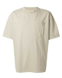 Мужская бежевая футболка с круглым вырезом от MAISON KITSUNÉ